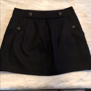 Banana Republic black wool skirt